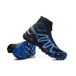 Salomon Snowcross CS Trail Running Shoes In Black Blue