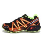 Men's Salomon Speedcross 3 CS Trail Running Shoes In Black Orange