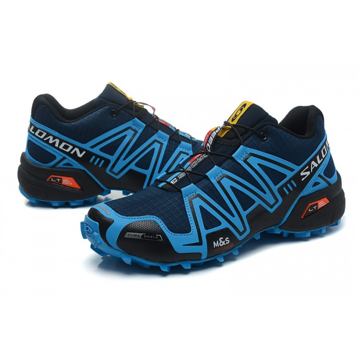 Men's Salomon Speedcross 3 CS Trail Running Shoes In Blue Black
