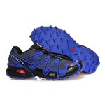Men's Salomon Speedcross 3 CS Trail Running Shoes In Blue Grey