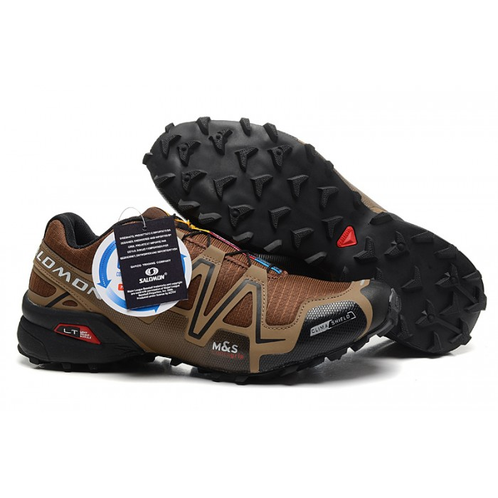 Men's Salomon Speedcross 3 CS Trail Running Shoes In Brown