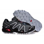 Men's Salomon Speedcross 3 CS Trail Running Shoes In Deep Gray