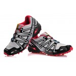 Men's Salomon Speedcross 3 CS Trail Running Shoes In Grey Black