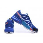 Men's Salomon Speedcross 4 Trail Running Shoes In Blue Blue