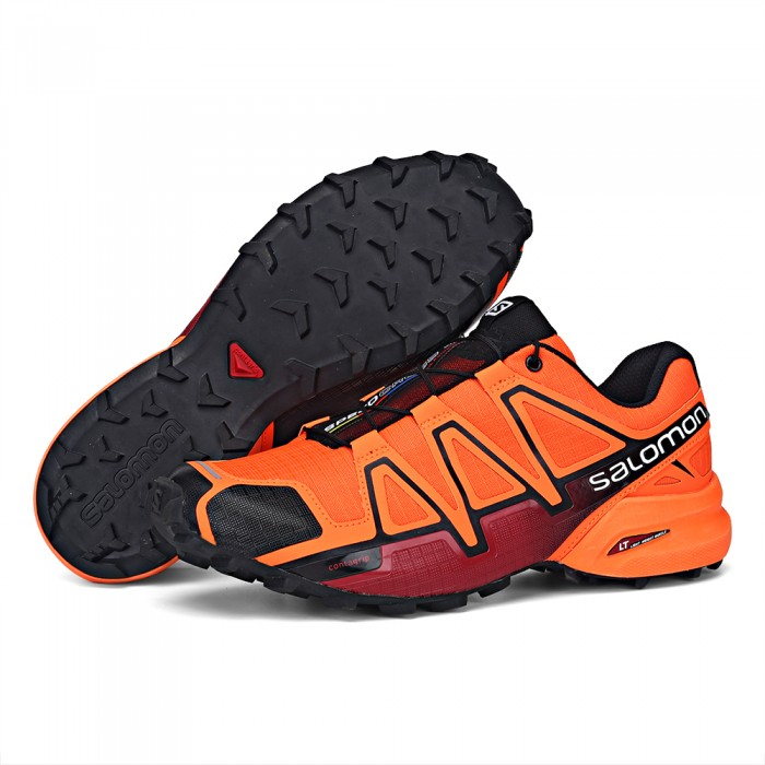 Men's Salomon Speedcross 4 Trail Running Shoes In Orange