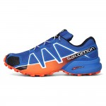Men's Salomon Speedcross 4 Trail Running Shoes In Orange Blue