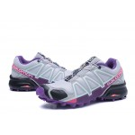 Women's Salomon Speedcross 4 Trail Running Shoes In Grey Purple