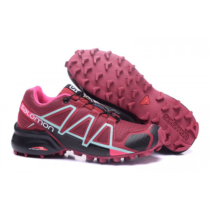 Women's Salomon Speedcross 4 Trail Running Shoes In Wine Black