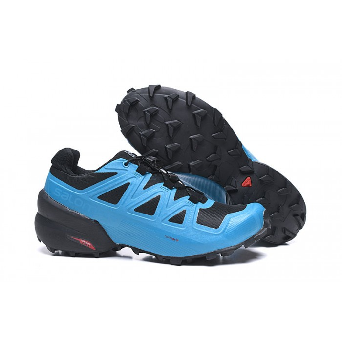 Salomon Speedcross 5 GTX Trail Running Shoes In Black Blue