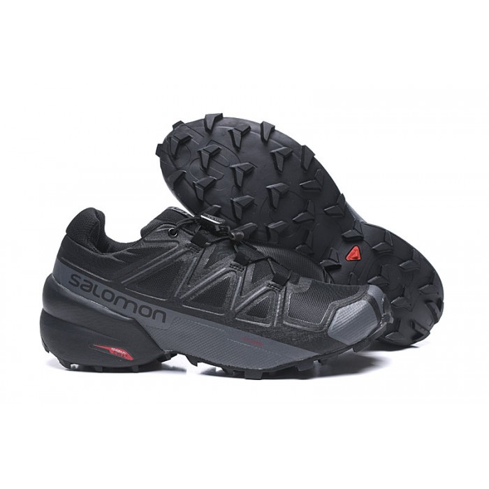 Salomon Speedcross 5 GTX Trail Running Shoes In Black Grey