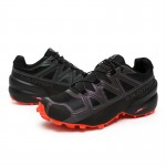 Salomon Speedcross 5 GTX Trail Running Shoes In Black Orange
