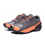 Salomon Speedcross 5 GTX Trail Running Shoes In Gray Orange