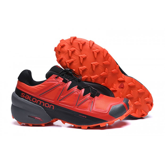 Salomon Speedcross 5 GTX Trail Running Shoes In Red Black