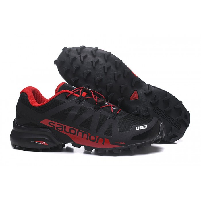 Men's Salomon Speedcross Pro 2 Trail Running Shoes In Black Red