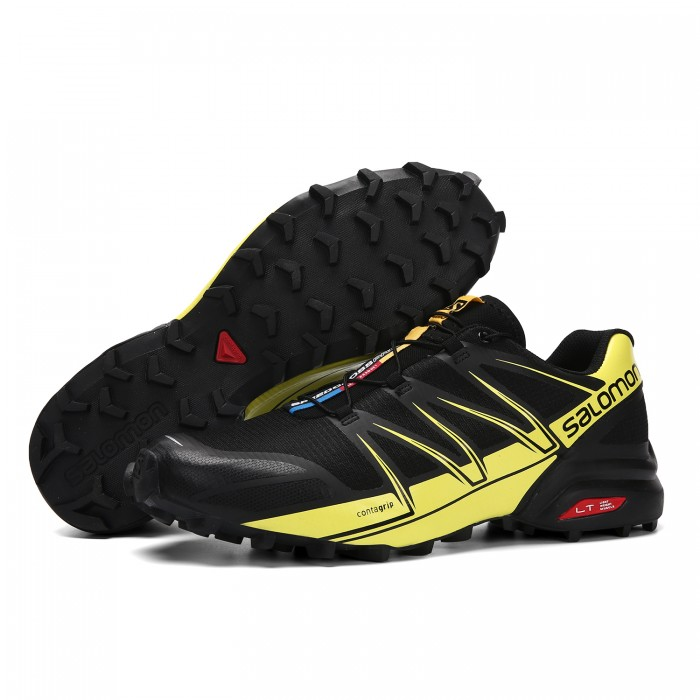 Salomon Speedcross Pro Contagrip Shoes In Black Yellow